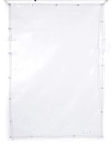 LBBGM Lona Transparente Impermeable Espesar Lona Impermeable Plastico Blando balcón Proteccion Solar toldo Transparente Proteccion Plantas suculentas con Ojal(0.5mm)(1.3x2m(4.2x6.6ft))