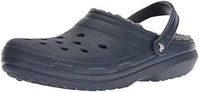 Crocs Classic Lined Clog, Navy/Charcoal, Men's 6, Women's 8 Medium