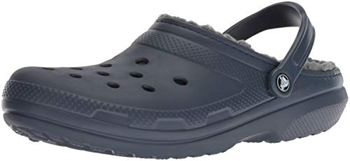 Crocs Classic Lined Clog, navy/charcoal, 16 US Women / 14 US Men