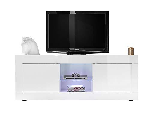mobile tv bianco lucido MOBILE PORTATV MODERNO IN LEGNO BIANCO LUCIDO