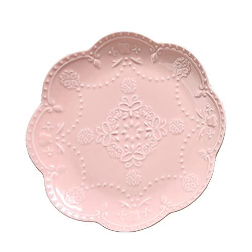 Platos de Postre Placas de cena 9.84 pulgadas Placa de cerámica ligera para ensalada de carne pasta y platos de postre lavavajillas Microondas Caja de seguridad. postres Vajilla para gastronomía y hog