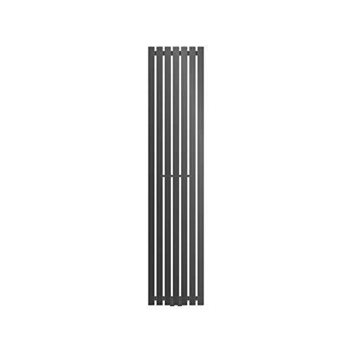 ECD Germany Radiador Stella diseño vertical - Radiador de panel - 370 x 1800 mm - Antracita - Radiadores toalleros