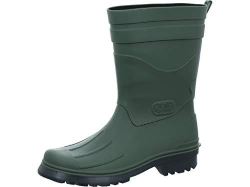 Tommy Hilfiger Damen Corporate Belt RAIN Boot Gummistiefel, Grün (Military 302), 38 EU