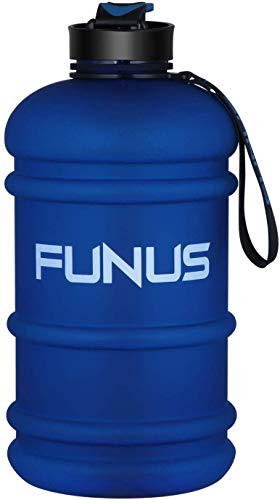 Half Gallon Water Bottle 2.2L Gym Water Jug Leakproof BPA Free Large Water Bottle for Kids Adult Summer Outdoor Camping Hiking Travel