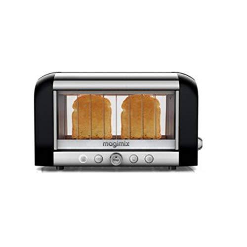 Magimix Vison Toaster, Edelstahl, 370 x 220 x 225 mm, Schwarz