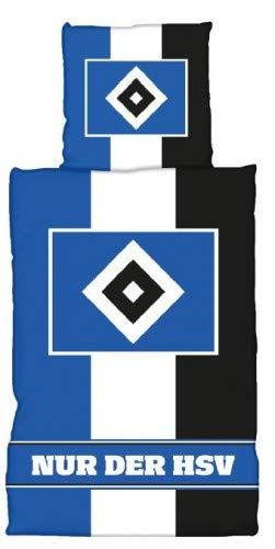 Hamburger SV HSV Bettwäsche Blau-Weiß-Schwarz, 30117