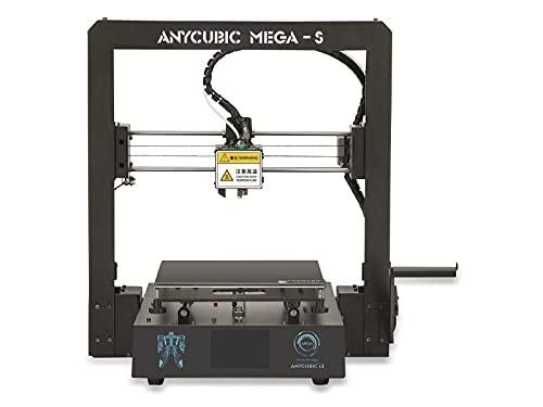 ANYCUBIC MEGA-S 3D Drucker mit Guter Qualität, neuem Extruder, Stabilen Vollmetall-Rahmen und Ultrabase Heizbett