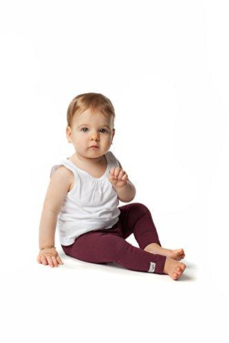 Soft & Comfortable Girls/Boys Full Length Pant Cotton Baby/Kids Pants Leggings Burgundy