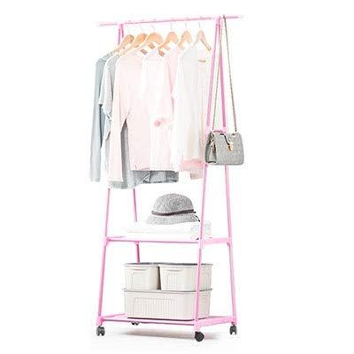 LESHARED Multifunctionele Driehoek Coat Rack Uitneembare Slaapkamer Hangende Kleding Rack Met Wielen Vloer Staande Jas Rack Kleding Hanger