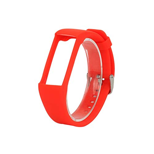 für Polar A370 Smart Watch Sportuhr Armband - Quick Fit Weiches Silikon Sportarmband Uhr Band Strap Ersatzarmband Uhrenarmband für Polar A370 Smart Watch Replacement Strap Watch Band (Rot)