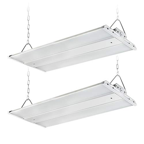 ASD LED Linear High Bay Shop Light Fixture 2FT 165W (500W Fluorescent Equiv) Dimmable - Industrial & Commercial Indoor Warehouse Garage Area Light – 22364Lm 5000K 120-277VAC, UL&DLC Premium - 2 Pack