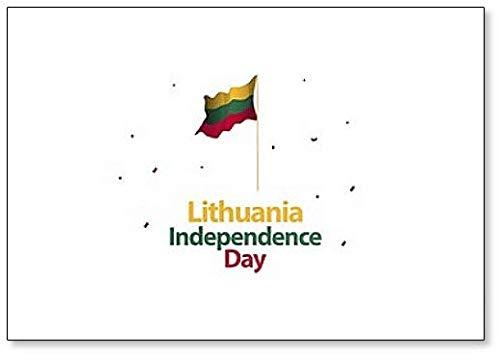 Litauen Independence Day Illustration Klassischer Kühlschrankmagnet