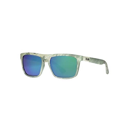 HUK Men's Polarized Oval Sunglasses, (Siwash) Green Mirror/Southern...
