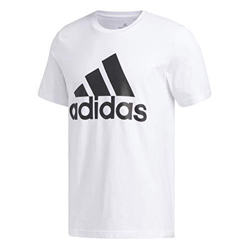 adidas mens Basic Badge of Sport Tee White Large