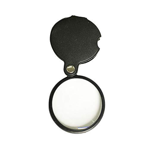 Grekywin Portable 10X Magnifying Glass, Pocket Folding Mag...
