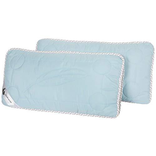 Stoffhanse Kissen 40 x 80 cm, 2er Set blau | Bettwaren | Kopf-Kissen | nach Öko-Tex Standard