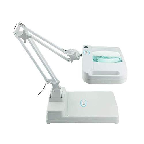MSXBMSY Head-Mounted Magnifier 5X / 10X Desktop Lupe Schreibtischlampe Led High-Definition Objektiv Tischlampe Ältere Lesen Elektronische Wartung Inspektion, 5X, 5 * (Color : 5*)