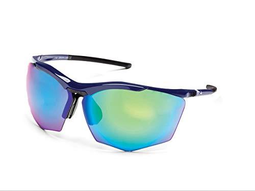 Zero RH+ Sunglasses Super Stylus, Occhiali/Maschere Sportglasses End Unisex – Adulto, Green Flash Green/Violet + Orange, One