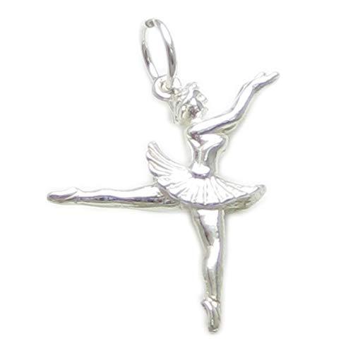 Ballerina sterling Silber 925-1 x Ballerinas Ballet dancers charms BJ2037