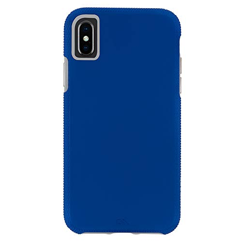 Case-Mate - iPhone XS Max Case - TOUGH GRIP - iPhone 6.5 -Blue/Titanium