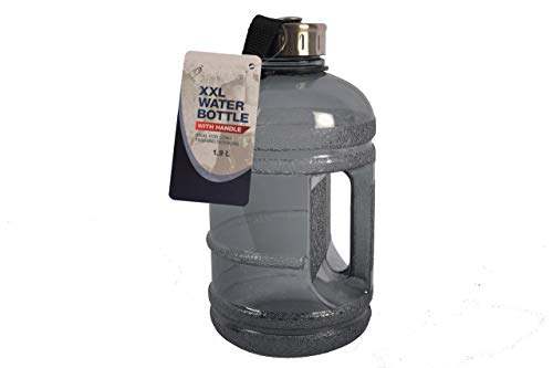 Discountershop – Botella deportiva – Bodymass – Botella de agua / lata de agua de Tritan – 2 litros