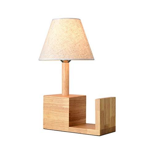 Lámpara de mesa para dormitorio, decoración cálida, estudio, estantería, estilo nórdico, creativa