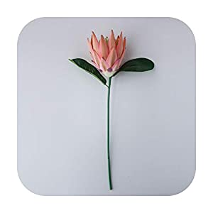 Funlife-ShopLuxury Big Artificial Africa Protea Cynaroides Silk King Flowers Branches Fake Flores for Home Decoration Wreath Plants Floral