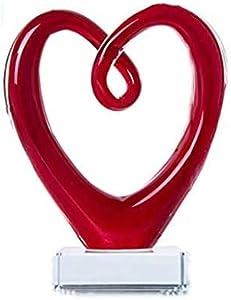 Rekaf Accesorios para el hogar Estilo de Murano Mano Figure Figurine Collectable Sweet Gift Art GRANDE CRISTAL ESCRUPTURA ESCULTURA CENTERA DE PERIEDOR DE CENTRO Decoración del hogar Decoración decora