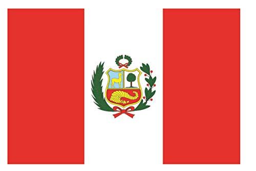U24 Aufkleber Peru Flagge Fahne 8 x 5 cm Autoaufkleber Sticker