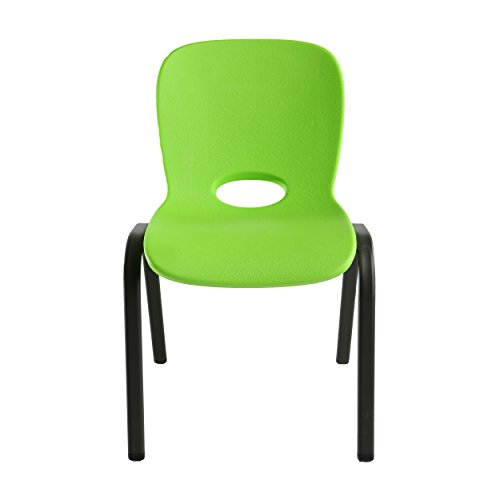 Lifetime 80473 Chair, Kids, Stacking, Lime Green, Bronze, 4 Pack Chaise, Vert Citron, 59,1x45,4x81,1 cm
