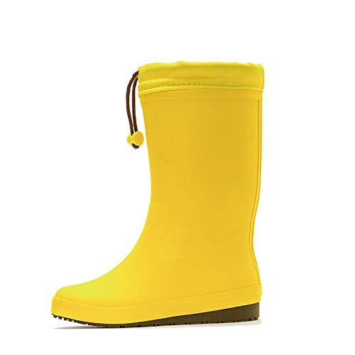LXYYBFBD Regenlaarzen voor dames, Lemon Yellow Water Boots Is eenvoudig mode vrouwen waterschoenen antislip retro Wellington Wild slijtvaste regenlaarzen voor vrouwen