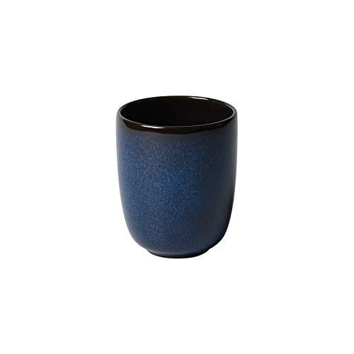 like. by Villeroy & Boch Lave Bleu Becher ohne Henkel, 400 ml, Höhe: 10,5 cm, Steingut, blau