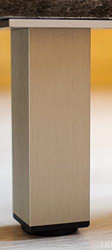 MB FERRAMENTA 1 x Profi MÖBELFUß Edelstahl Finish 45 x 45 x 300 mm 300 kg Traglast