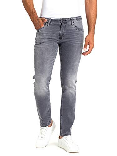 Cross Damien Herren Slim Jeans, Grau (Grau Gebraucht 010), 34 W / 34 L.