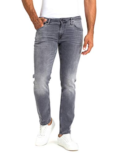 Cross Jeans Herren Damien Slim Jeans, Grau (Grey Used 010), W34/L36
