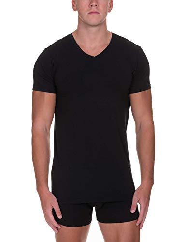 bruno banani Herren V-Shirt Infinity Unterhemd, Schwarz (Schwarz 007), Medium (Herstellergröße: M)