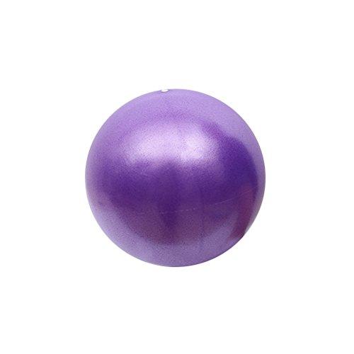 LIOOBO Pelota de gimnasia para pilates, entrenamiento central, fisioterapia, mejora el equilibrio (lila 15 cm)