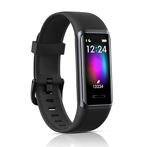 LATEC Fitness Tracker, Smartwatch Orologio con Alexa Integrato Impermeabile 5 ATM di Sportivo Calorie, Monitoraggio Frequenza Cardiaca del Sonno e della Salute per Sport Uomo Donna(nero)