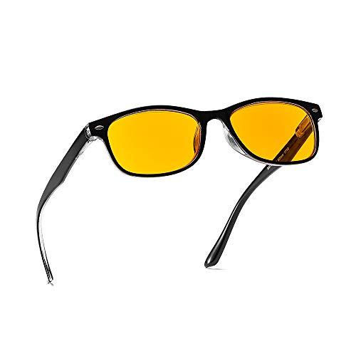 Suertree Blaulicht Brille 95% Anti-blaulicht Lesebrille Gelbe Brille UV-Schutz Computerbrille Game Brille für PC 1.0X BM163