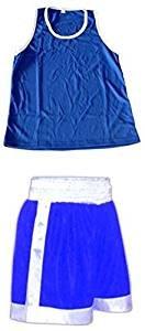 TOP Marques Collectibles Boxer Amateur Abbigliamento–Set in Blu–Boxer e boxershirt, Blau