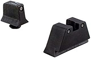 Trijicon Suppressor Black Outline Night Sight Set with Green Lamps for Glock Models