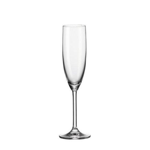 Leonardo Daily Sekt-Gläser, Sekt-Kelch mit Stiel, spülmaschinenfeste Sekt-Kelche, 6er Set, 200 ml, 063314