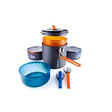 GSI Outdoors Pinnacle Dualist, Camping Cook Set, Superior Backcountry Cookware Since 1985