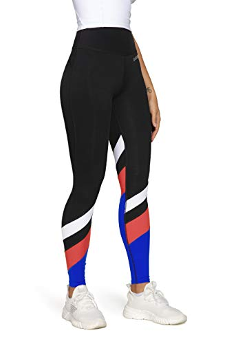 QUEENIEKE Women Workout Leggings Mid Waisted 4.3 inch Buttery Soft Yoga Pants Running Tights L Black