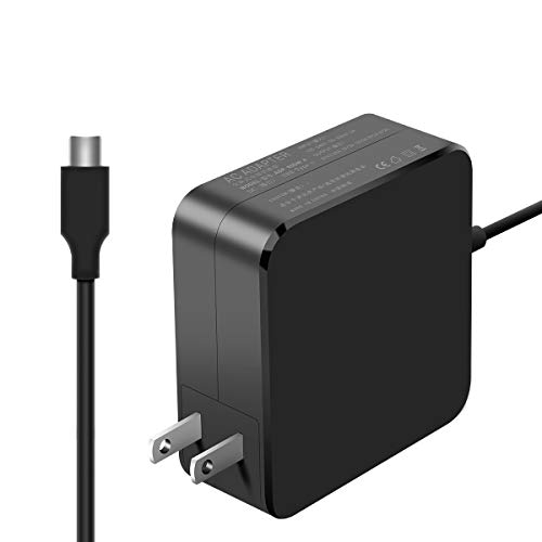 Replacement Laptop Charger 65W for MacBook Pro 13/12 Lenovo, ASUS, Acer, Dell, HP, Thinkpad and Any Other Laptops with The USB C