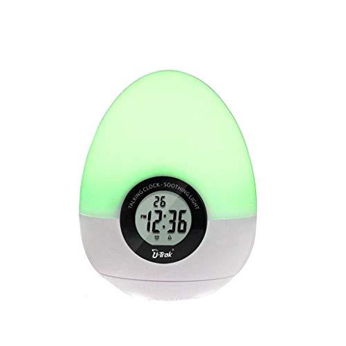 MJ-Alarm Clock l'horloge Lumineuse colorée Ronde, Peut Placer Le réveil de Fonction de répétition