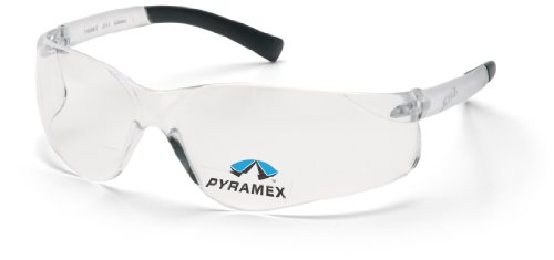 Pyramex Safety Ztek Readers S2510R20 rahmenlose komfortable Schutzbrille mit integrierter Lesebrille/Weitsichtstärke +2.0 / farblose Sichtscheiben