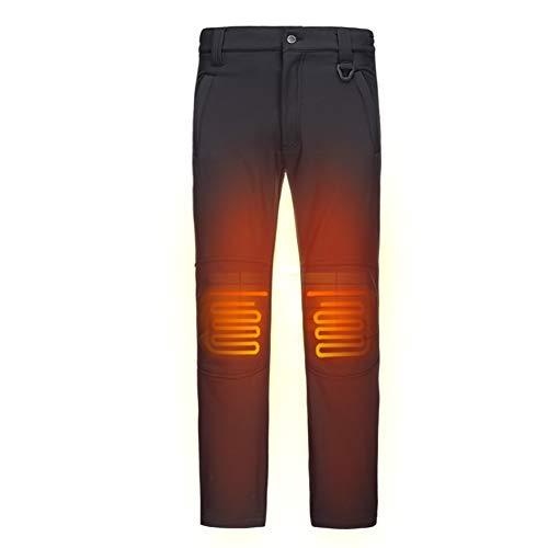 Photo de dewbu-pantalons-chauffante-avec-7-4v-batterie-soft-shell