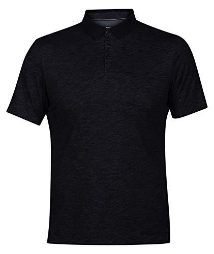 Hurley Men's Nike Dri-Fit Short Sleeve Lagos Polo, Black, XL