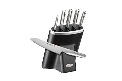 Global Ni 6-Piece Knife Block Set GN-6001, Silver